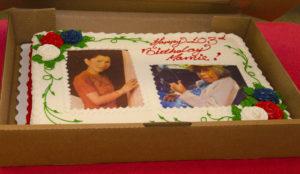 Mamie Dixon's birthday cake.